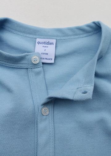Quotidien Cotton Pique Crew Neck Cardigan BLUE IND (5)
