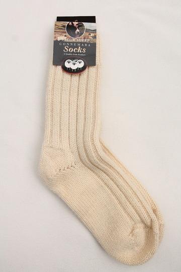 Jacob Sheep Connemara Socks ECRU (2)