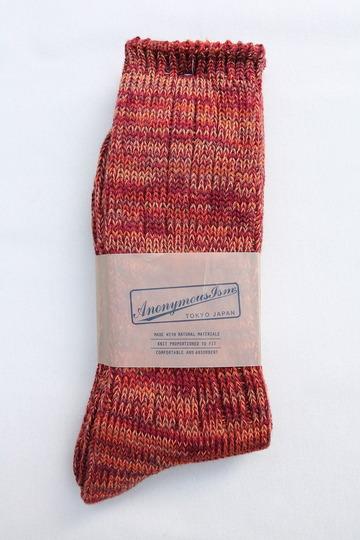 Anonymous Isme 5 Color Mix Socks WINE (2)