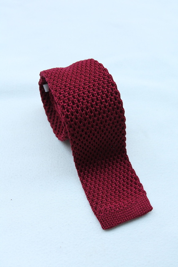 Component Silk Knit Tie WINE