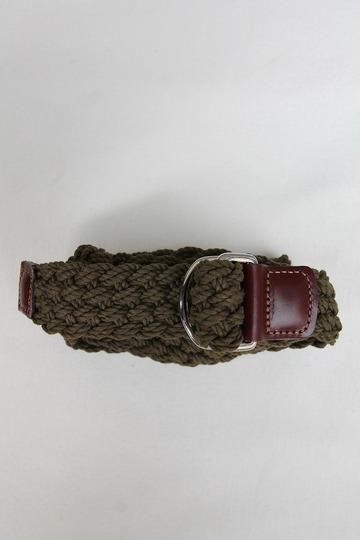 ATHISON Cotton Ring Belt OLIVE (3)