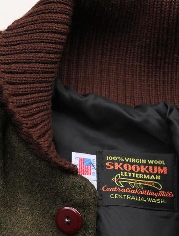SKOOKUM Sur Coat OLIVE X BROWN (5)