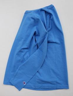 Champion T1011 Raglan Long Sleeve Tee LIGHT BLUE (2)