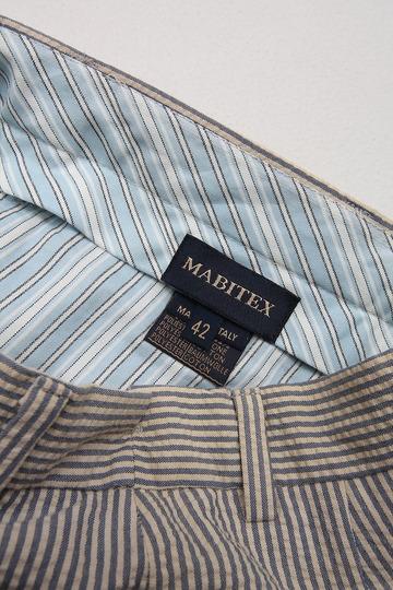 Mabitex Seersucker Tepered Pants BEIGE X GREY (2)