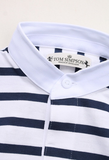 Tom Sinpson SS Stripe Rugby WHITE NAVY (2)