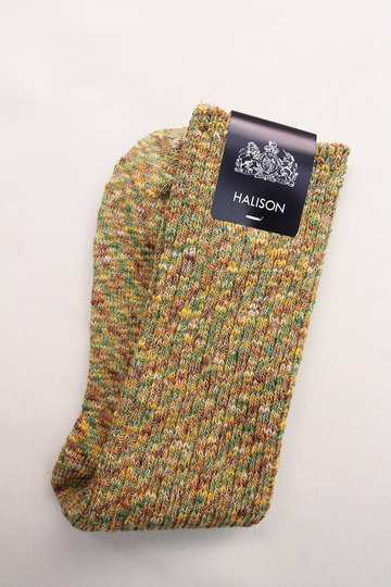HALISON Marble Slab Rib Socks YELLOW (3)