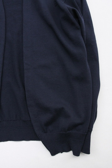 RICEMAN Knit Cardigan Button Less Loosefit NAVY (3)
