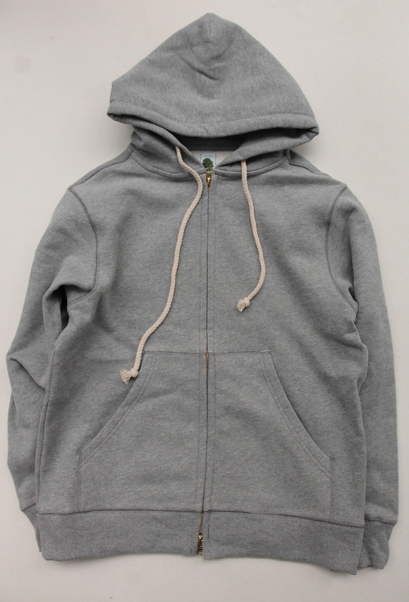 Arbre HW Cotton Fleece Zip up Sweat Parka GREY