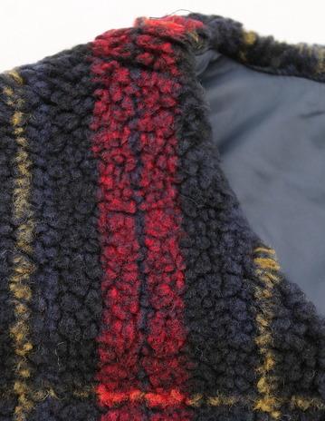 NOUN Vest Check RED X NAVY (4)