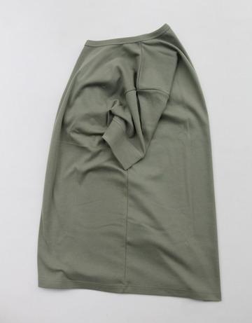 Bandol 1X1 Rib Short Sleeve Military Crew OLIVE (3)