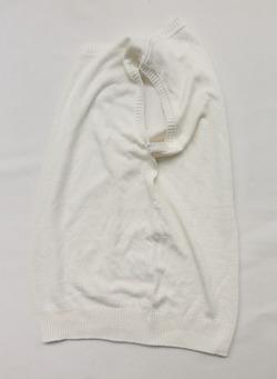 Easy Knit Crew Neck Vest WHITE (5)