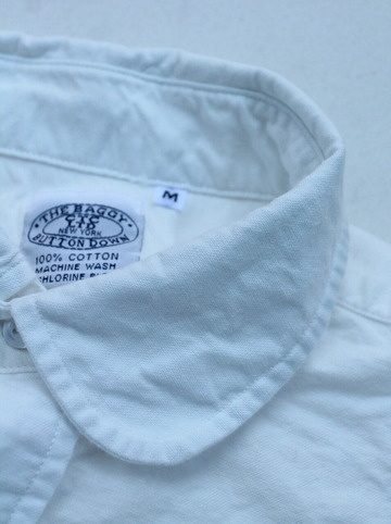 THE BAGGY Cotton Oxford Round Collarls WHITE (5)