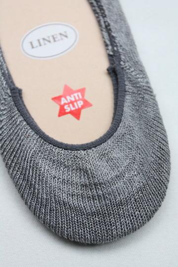 HALISON Melange Linen Lofers Socks GRAY (3)