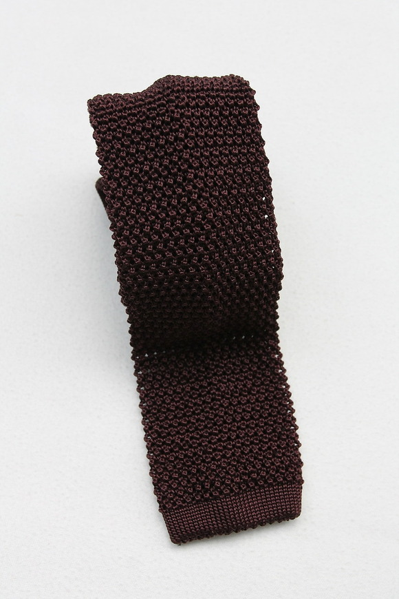 Component MADE IN ITALY Shilk Knit Tie  BURGUNDY