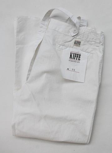 KIFFE Wide Baker Pants WHITE