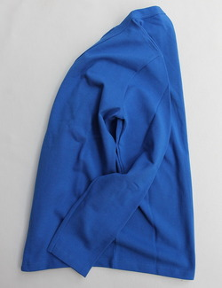 Quotidien Cotton Pique V Neck Cardigan ROYAL BLUE (4)