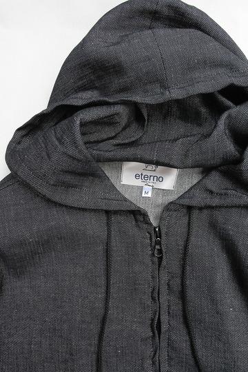 eterno Hood Coat AST 00 BLACK (2)