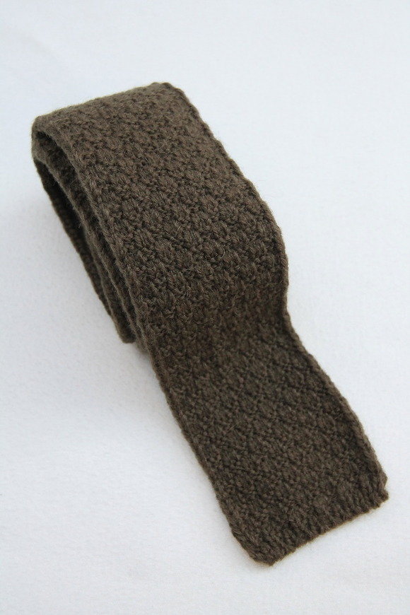 MADE IN FRANCE Wool Knit Tie OLIVE