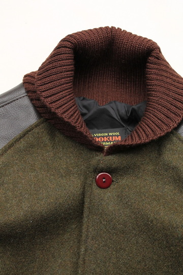 SKOOKUM Sur Coat OLIVE X BROWN (3)