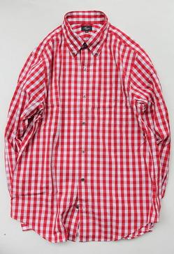 Harriss Big Gingham LS BD RED