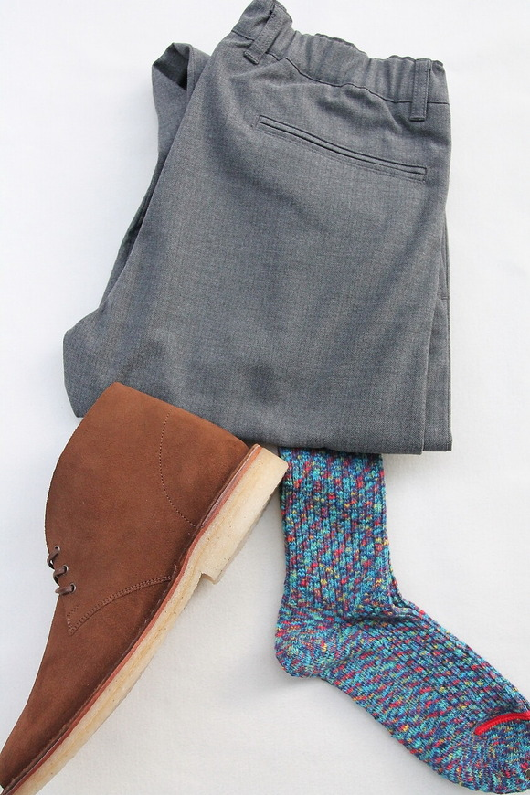 HALISON Marble Slab Rib Socks BLUE