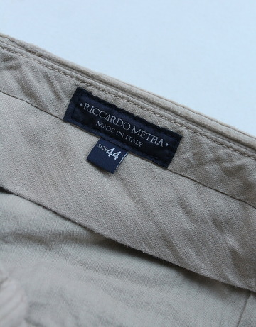 RM 1 Tuck Wide Pants 8 Well Corduroy BEIGE (2)