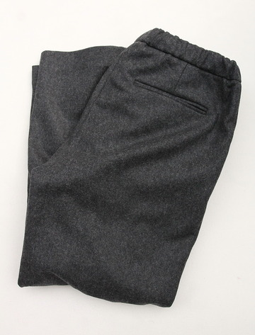CESTERS 2 P Easy Wool Trousers by Burel CHARCOAL