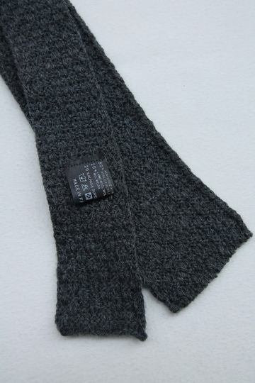 MADE IN FRANCE Wool Knit Tie GREY (2)
