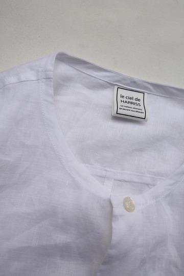 Le Ciel de Harriss Broad Big Shirt with Pocket WHITE (5)