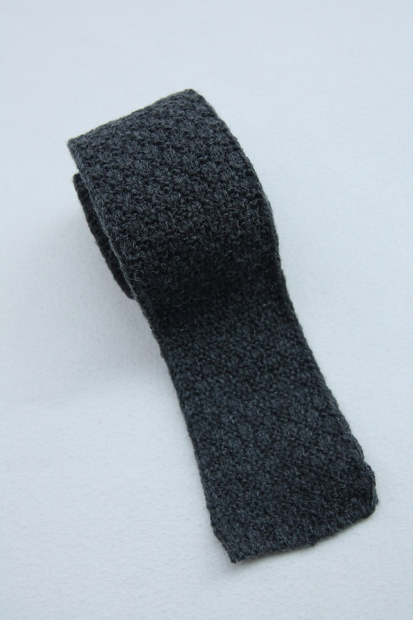 MADE IN FRANCE Wool Knit Tie GREY