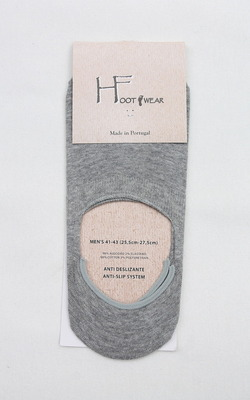 H Footwear Covered Socks Anti Slip System GREY (2)