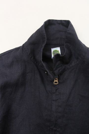 Arbre Linen Zip Jacket NAVY (2)