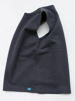 Goodon Pullover Crew Sweat Vest SMOKY BLACK (4)