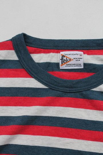 Felco SS Ringer Stripe Pocket T TRICO BLUE (3)