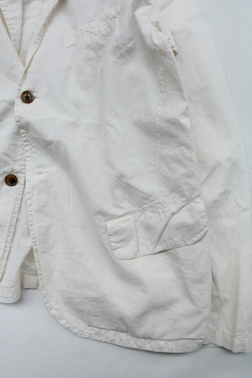 Vasy Lettlement Side Vents Tailored Jacket NATURAL (4)