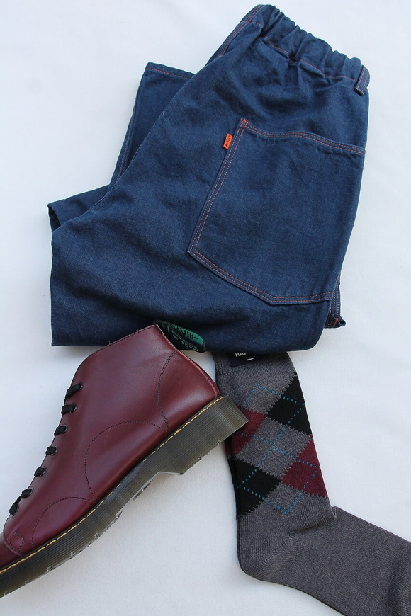 HALISON Dralon Cotton Argyle Socks GREY
