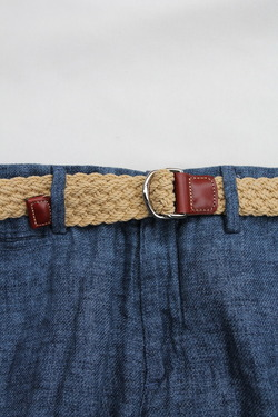 ATHISON Cotton Ring Belt BEIGE (3)