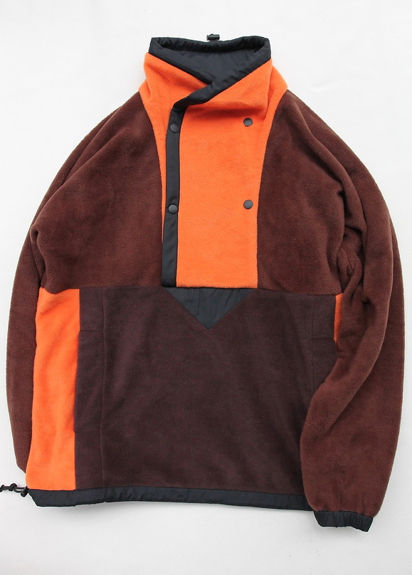 coochucamp Happy Pullover Fleece BROWN ORANGE