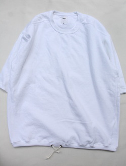 Oddoment Remake Dyed Half SLB Sweat Shirt WHITE