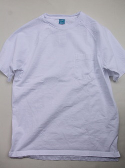 Goodon Heavy Raglan Pocket Tee Shirt WHITE