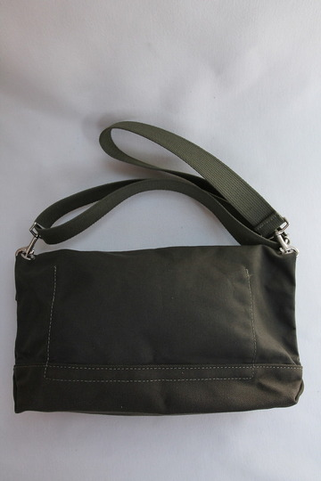 HERITAGE LEATHER Co Travel Pouch 10 10 ARMY Duck OLIVE (3)