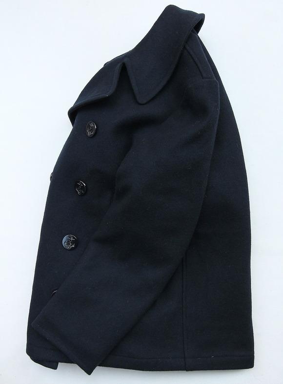 Sterlingwear Wool Melton P Coat NAVY (2)