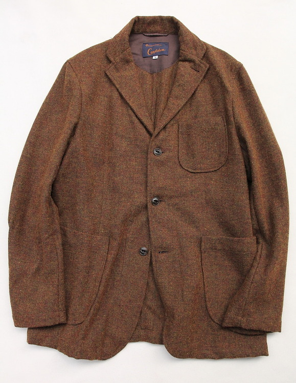 CANDIDUM Tweed 3 Button Sports Jacket BROWN (2)