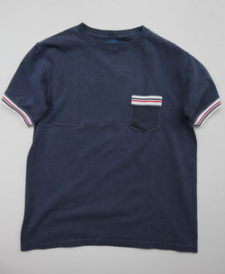 Goodon SS Remake IVY Pocket Tee P NAVY