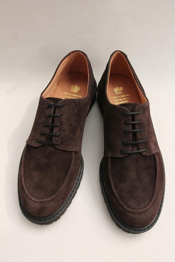 Crown Northampton Apron Shoes DK BROWN