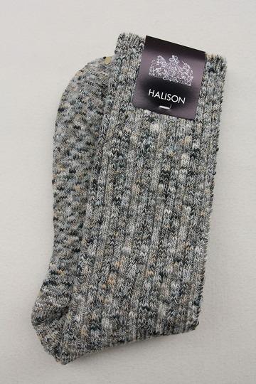 HALISON Marble Slab Rib Socks GRAY (3)