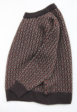 Harley Jacquard Double Crew Neck BROWN (2)