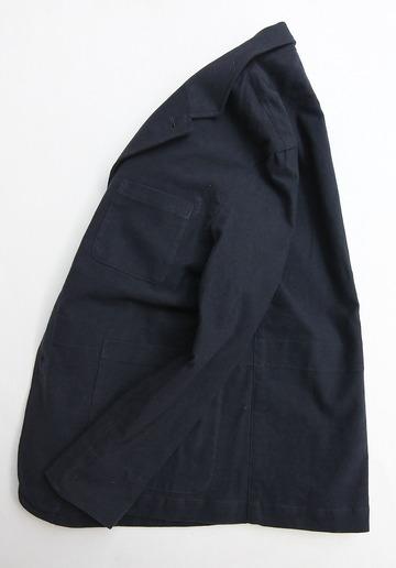 Vincent et Mireille Tailored Jacket Cotton Moleskin NAVY (3)