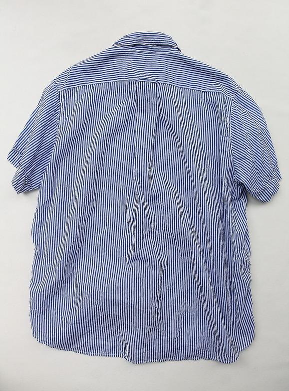 Vasy Lentlement Regular CollarOversized Shirt BLUE Stripe (4)