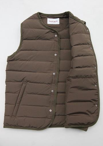 Vincent et mireille Stitchles Down Vest OLIVE (4)
